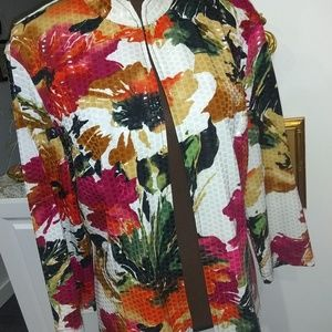 CARTISE FLORAL SHIMMERY JACKET XL